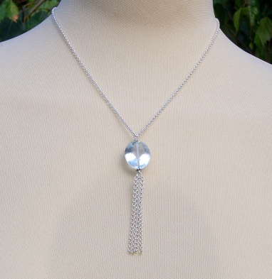 Light topaz sterling silver necklace