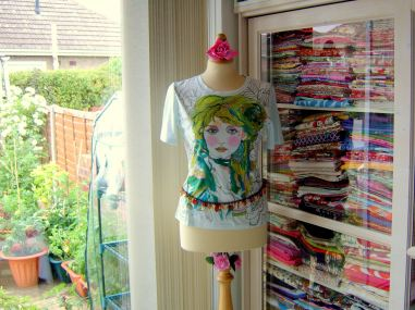 mannequin in sewing room